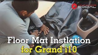 Car Floor Mat Installation for Grand i10