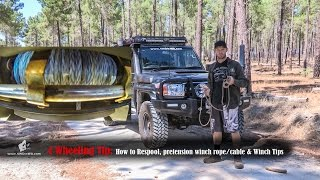 how to respool winch & 4x4 winch tips