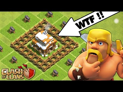 Clash Of Clans | NOOBIEST BASE!?! UPGRADING TO TOWN HALL 4! | Town Hall 1 To Town Hall 11 Series!