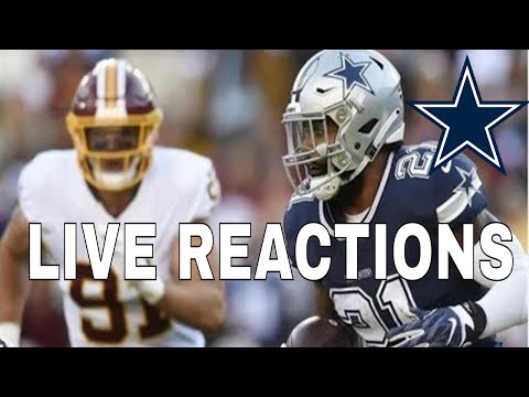 Dallas Cowboys Vs Washington Redskins | Live Reaction & More!!!