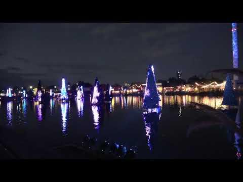 Sea of Trees at SeaWorld Orlando Christmas Celebration 2018 in 4K