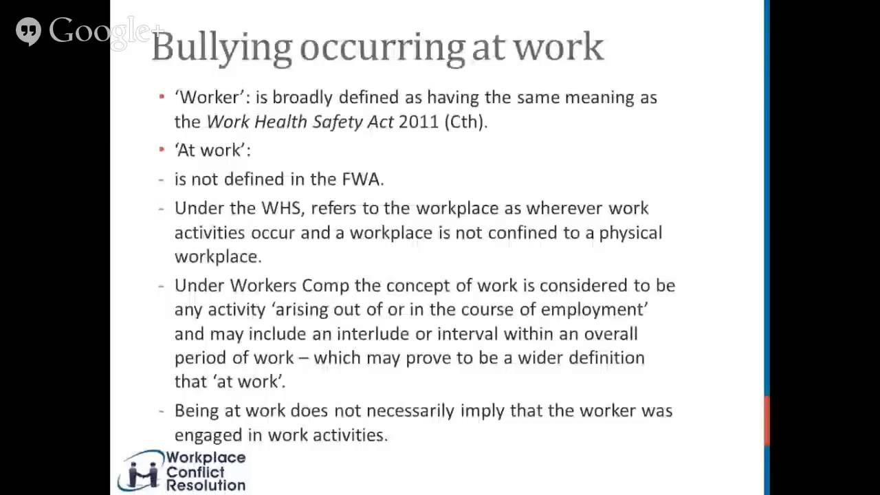 Anti bullying Series 1 - What is workplace bullying? - YouTube
