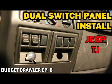 $15 Dual SWITCH PANEL Install On The TJ WRANGLER | Budget Crawler Ep. 8