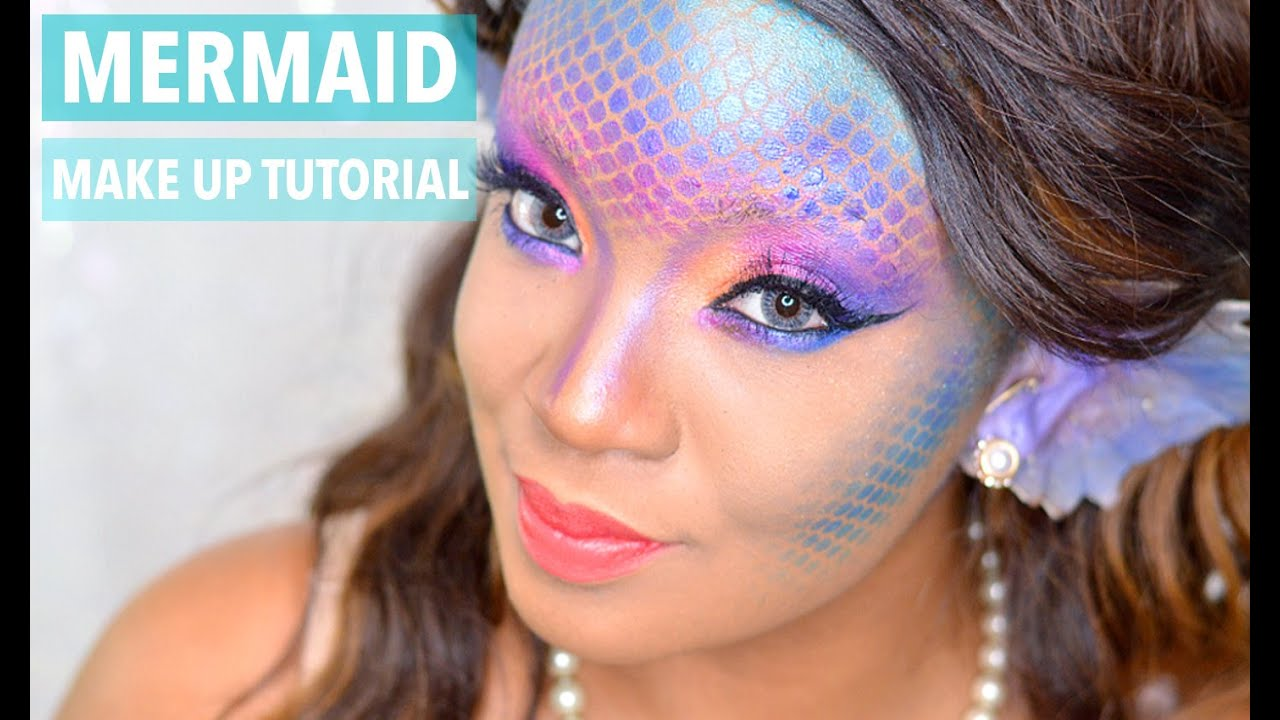 HALLOWEEN | MERMAID/SIREN MAKE UP TUTORIAL - YouTube