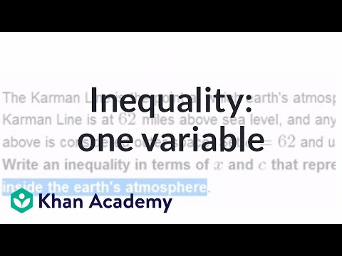 Inequality Word Problem: One Variable | Applying Mathematical Reasoning | Pre-Algebra | Khan Academy