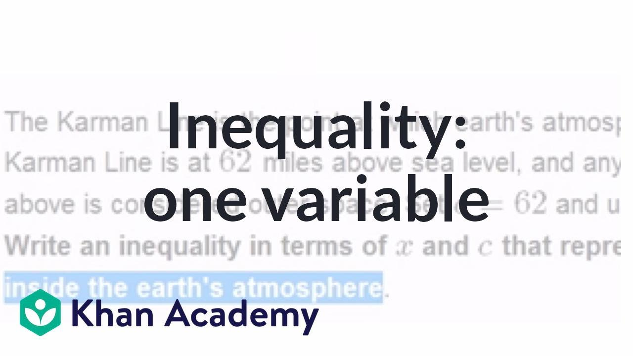 Inequality word problem: one variable | Applying mathematical ...
