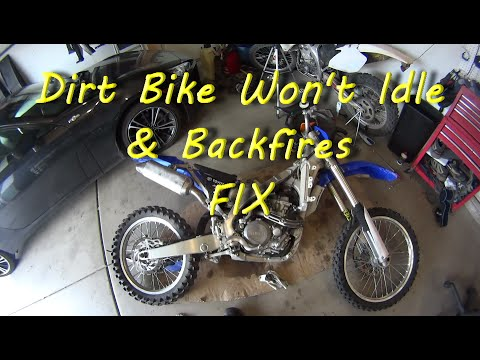 Dirt Bike Wont Idle And Backfires Fix