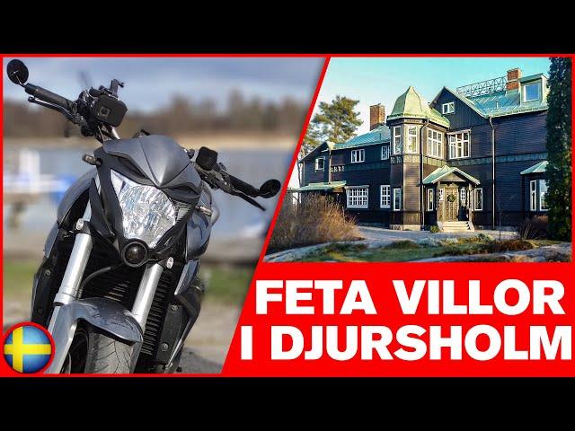 Cruisar i Djursholm & Spanar In Feta Villor | Svensk Motovlogg  [HONDA CB1000R]