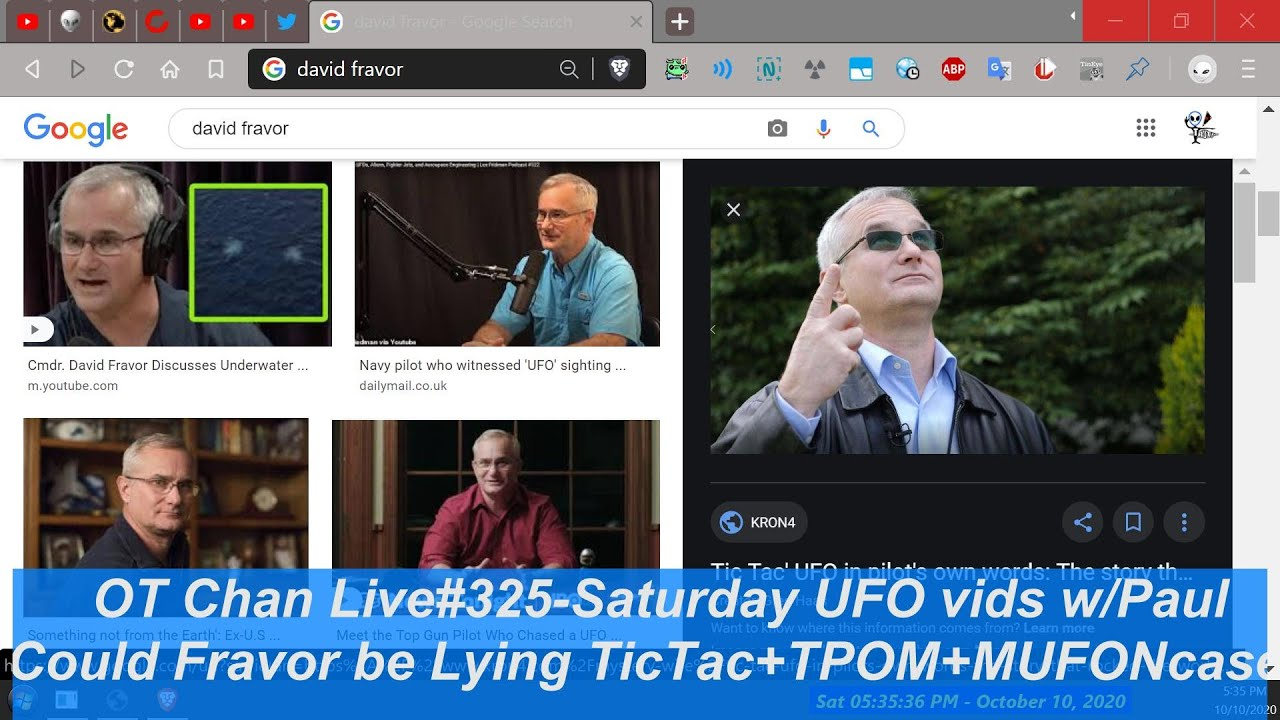 Re-edt: Was taken down by Dr J.working with TPOM. Non-Truther of UFOLOGY-D. Fravor lied? TicTac #325