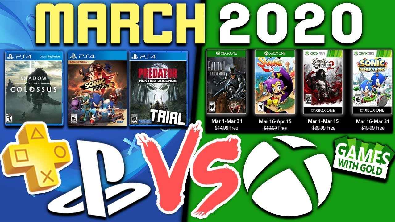 PS Plus VS Xbox GWG FREE Games MARCH 2020! (PlayStation Plus Games 2020)