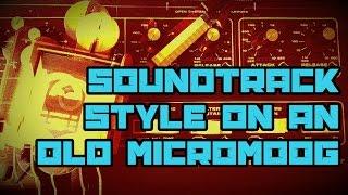 Soundtrack SciFi style ambient - MOOG MicroMoog & Yamaha Reface CS