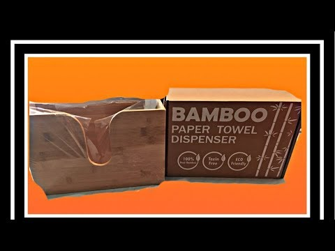 Bamboo Paper Towel Dispenser ( Review)