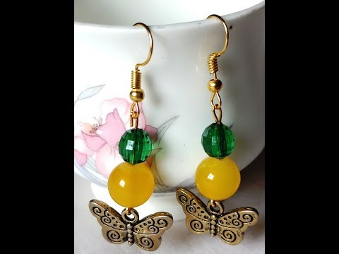 How to make your own glass bead earrings? (DIY)