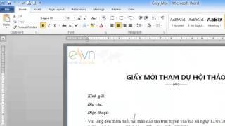 Tạo, nhập và lưu văn bản với Word 2010