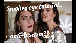 VIDEO GAMES, FOOTBALL, SEX... AND FASCISM?? || Beginner smokey eye tutorial ft. Marijam Didžgalvytė