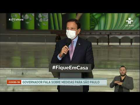 Governador João Doria Envia Mensagem A Bruno Covas