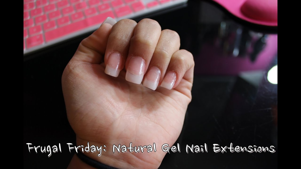 Frugal Friday: Natural Gel Nail Extensions | MsNikkiGBeauty - YouTube