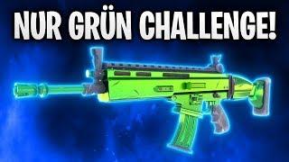 NUR GRÜN CHALLENGE! 🤬 | Fortnite: Battle Royale