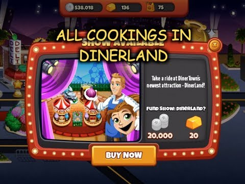 All Cookings In Dinerland (Cooking Dash)