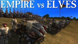 Empire vs High Elves - Reikland Rocketeers - Call of Warhammer - Medieval 2 Total War