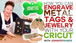 How to Engrave Dog Tags & Jewelry on a Cricut