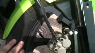 Racer RC200-CS Skyway, замена штатной резины. видео №3