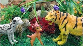 Мультфильмы про животных для детей Истории про тигра медведя и Пушистика и их друзей