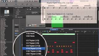 Logic Pro X - Video Tutorial 32 - MIDI Quantization, pt. 1 - Event-based Quantization