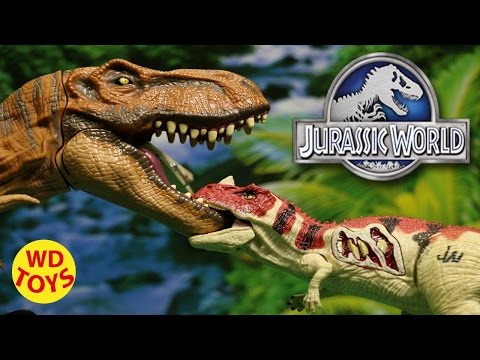 JURASSIC WORLD GROWLER CERATOSAURUS 2015 With T-Rex, Tyrannosaurus Rex Unboxing, Review By WD Toys