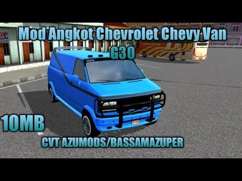 Mod Angkot Chevrolet Chevy Van G30 Bussid