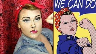 Halloween Tutorial | Rosie the Riveter- Pop Art