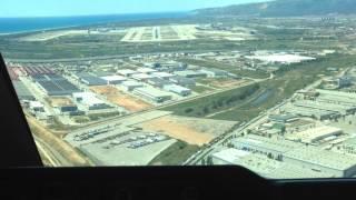 Посадка в аэропорту Барселона Боинг 747-400 АК Трансаэро