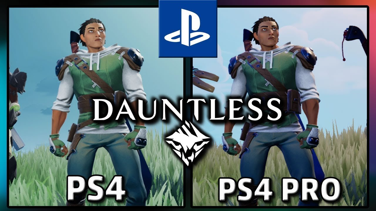 Dauntless   PS4 VS PS4 PRO   Frame Rate TEST