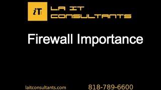 Firewall Importance