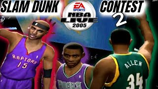 NBA Live 2005 PS2 Slam Dunk Contest 2 || Vince Carter performs first 720 in history