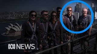 Prince Harry joins Australian Prime Minister Scott Morrison on bridge climb