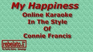 My Happiness - Connie Francis - Online Karaoke Version