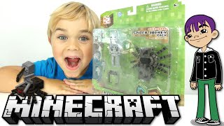 Minecraft - Spider Jockey Toy Figure Set Review - Skeleton