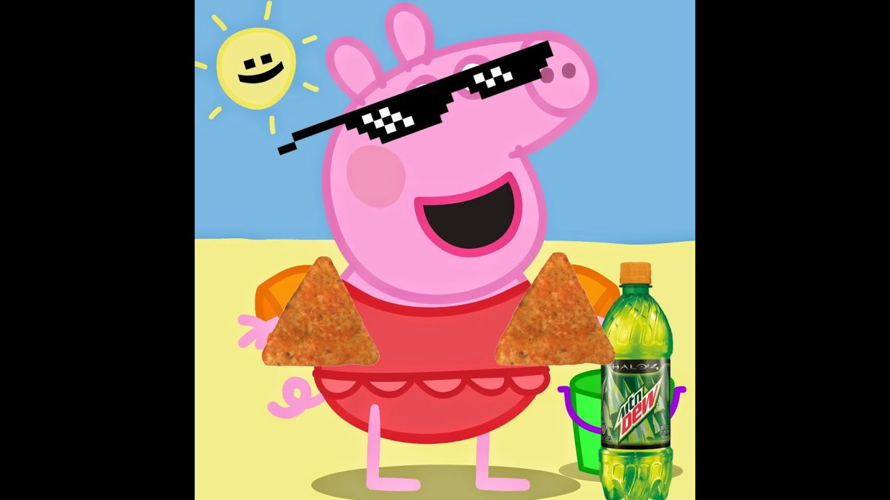 maxresdefault mlg peppa pig goes to the beach youtube