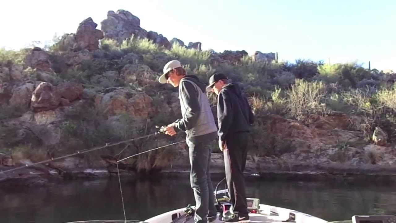 Bed fishing saguaro lake az youtube for Saguaro lake fishing report