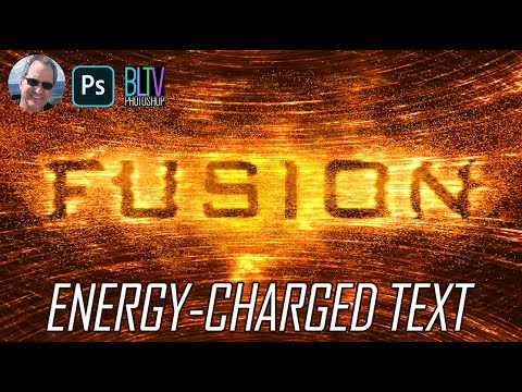 Photoshop: Create Super-Charged, High-Energy Particle Collider Text.