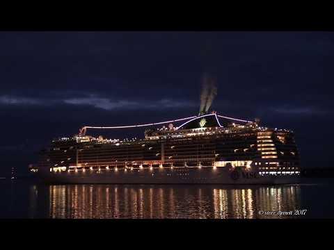 MSC Cruise Ships Fantasia & Preziosa arrival Southampton 20/9/17