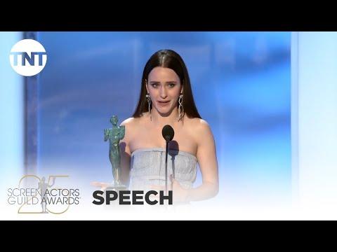 Rachel Brosnahan: Award Acceptance Speech   25th Annual SAG Awards   TNT