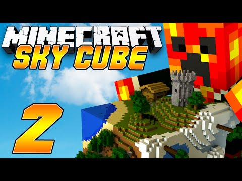 Minecraft Sky Cube - CREEPER KNOCKOUT! - (2) Minecraft 1.8 Challenges