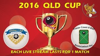 2016 Qld Cup - Men's 8 Ball Team - Gladstone v Fraser Coast 8:30pm