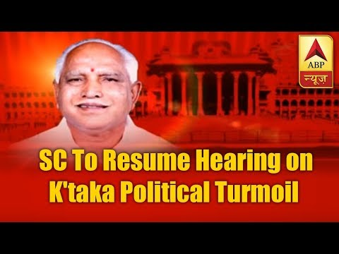 SC to resume hearing on Karnataka political turmoil