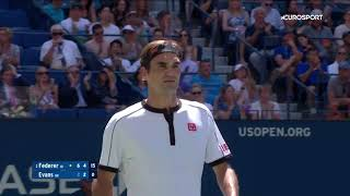 роджер Федерер  Дэниел Эванс. US Open-2019. Обзор матча