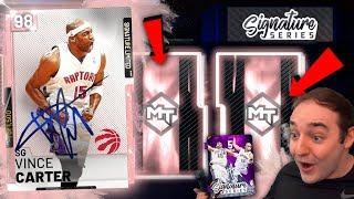 NBA 2K19 My Team LIMITED EDITION PINK DIAMOND VINCE CARTER! THREE PINK DIAMOND PULLS?!?!