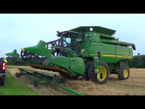 Wheat Harvest 2017 - Less Farms - Greenford Ohio