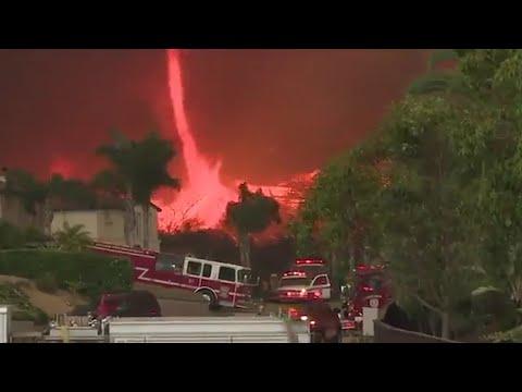 Firenado o tornado de fuego en California